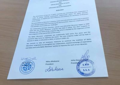Susitikimo metu pasirašytas dokumentas