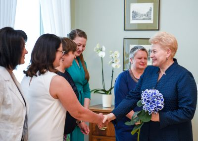 Susitikimo su Lietuvos Respublikos Prezidente Dalia Grybauskaite akimirka