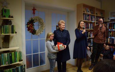 "Prezidentė davė startą devintosioms ""Knygų Kalėdoms"""